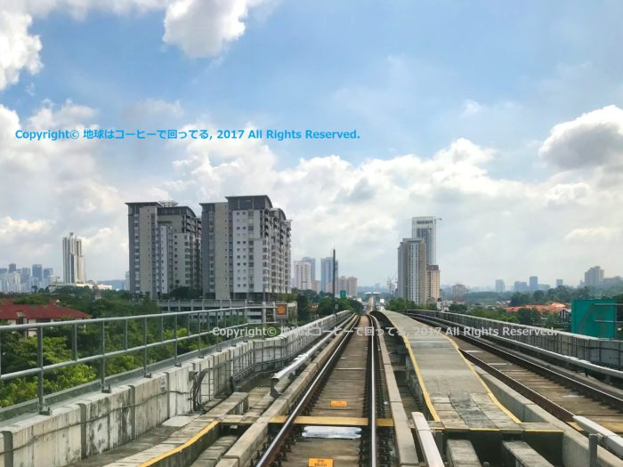 City view from MRT