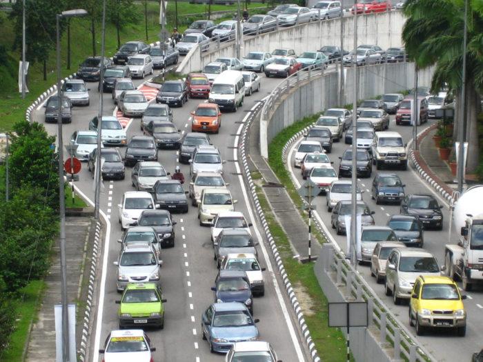 Traffic jam in KL