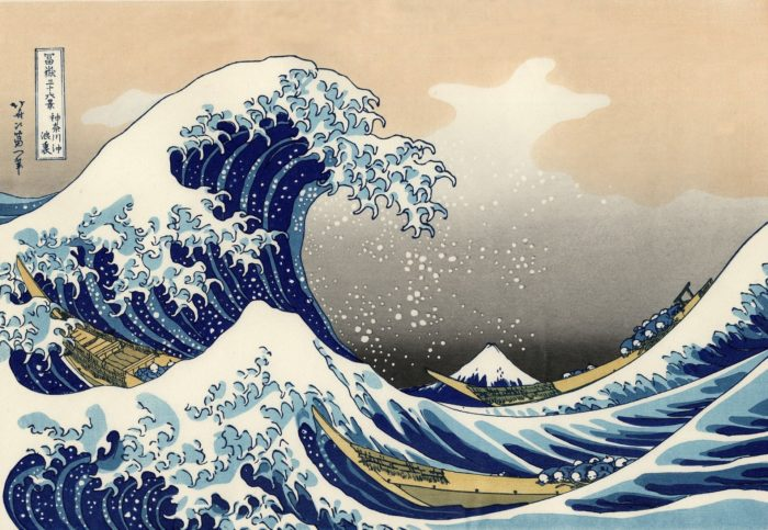 The Grate Wave by Hokusai