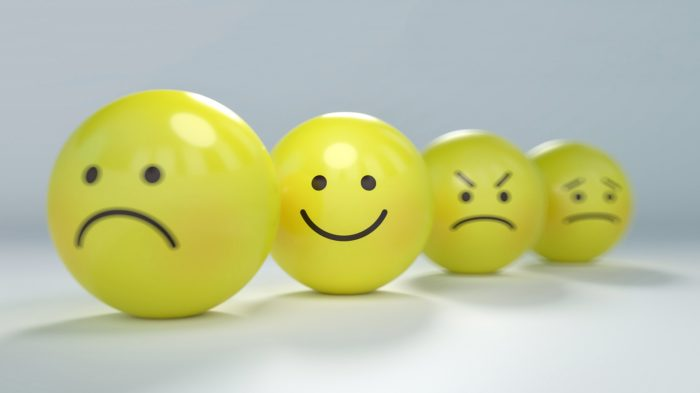 Smiley with different emotions