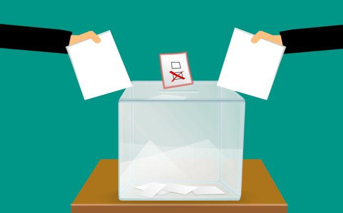 Illustration of ballot box