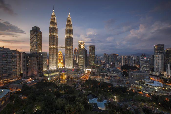 Night view of Kuala Lumpur