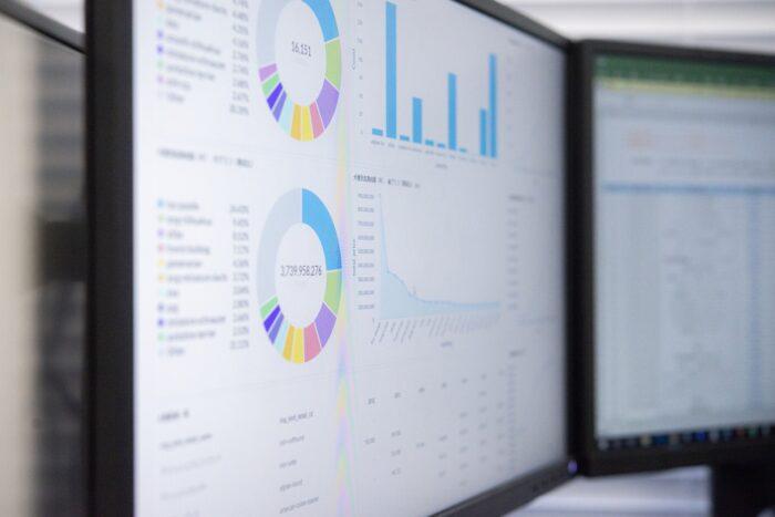 PC screen of data analysis